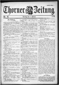 Thorner Zeitung 1899, Nr. 31 Zweites Blatt