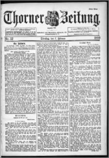 Thorner Zeitung 1899, Nr. 32 Erstes Blatt