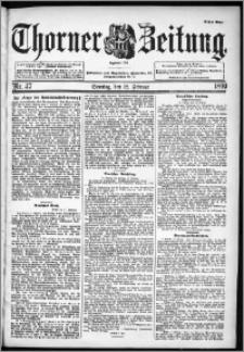 Thorner Zeitung 1899, Nr. 37 Erstes Blatt
