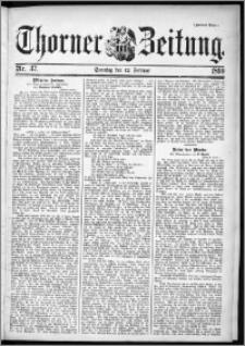 Thorner Zeitung 1899, Nr. 37 Zweites Blatt
