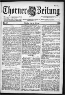 Thorner Zeitung 1899, Nr. 38 Erstes Blatt