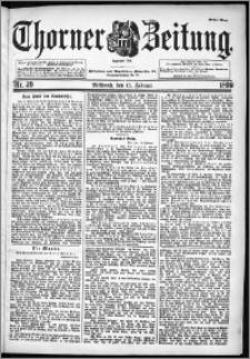 Thorner Zeitung 1899, Nr. 39 Erstes Blatt