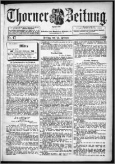 Thorner Zeitung 1899, Nr. 47