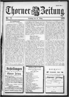 Thorner Zeitung 1899, Nr. 73 Zweites Blatt