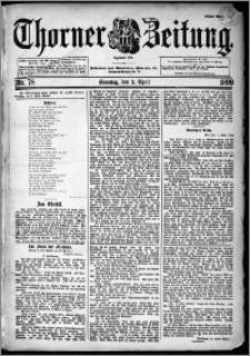 Thorner Zeitung 1899, Nr. 78 Erstes Blatt