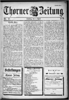 Thorner Zeitung 1899, Nr. 78 Zweites Blatt