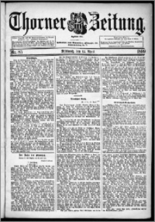 Thorner Zeitung 1899, Nr. 85