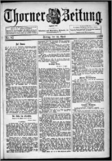 Thorner Zeitung 1899, Nr. 87