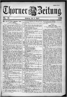 Thorner Zeitung 1899, Nr. 89 Zweites Blatt
