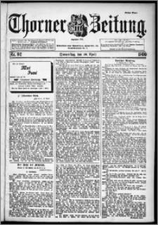 Thorner Zeitung 1899, Nr. 92 Erstes Blatt