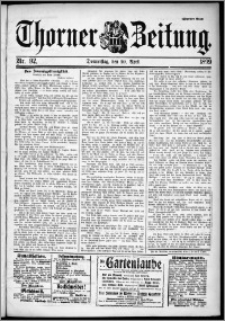 Thorner Zeitung 1899, Nr. 92 Zweites Blatt