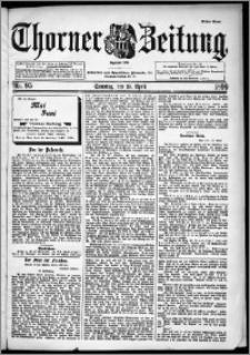 Thorner Zeitung 1899, Nr. 95 Erstes Blatt