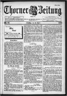 Thorner Zeitung 1899, Nr. 96 Erstes Blatt