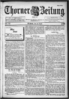 Thorner Zeitung 1899, Nr. 97 Erstes Blatt
