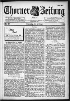 Thorner Zeitung 1899, Nr. 98 Erstes Blatt