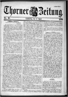 Thorner Zeitung 1899, Nr. 98 Zweites Blatt