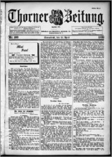 Thorner Zeitung 1899, Nr. 100 Erstes Blatt