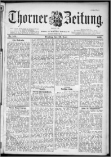 Thorner Zeitung 1899, Nr. 142 Erstes Blatt