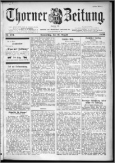 Thorner Zeitung 1899, Nr. 204 Erstes Blatt