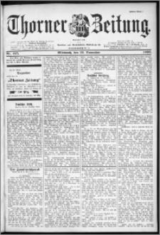 Thorner Zeitung 1899, Nr. 275 Erstes Blatt