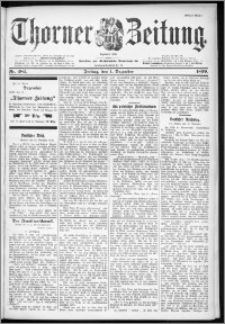 Thorner Zeitung 1899, Nr. 282 Erstes Blatt