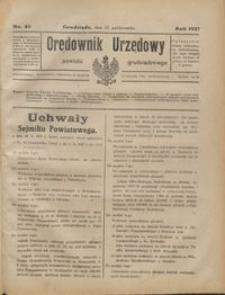 Orędownik Urzędowy Powiatu Grudziądzkiego 1927 nr 43