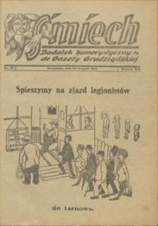 Śmiech: dodatek humorystyczny do Gazety Grudziądzkiej 1931.08.20 R. XII nr 10