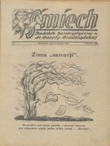 Śmiech: dodatek humorystyczny do Gazety Grudziądzkiej 1932.01.11 R. XIII nr 1