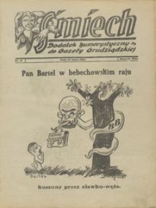 Śmiech: dodatek humorystyczny do Gazety Grudziądzkiej 1932.05.24 R. XIII nr 6