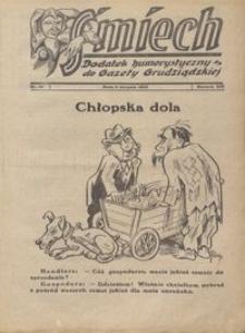 Śmiech: dodatek humorystyczny do Gazety Grudziądzkiej 1933.08.08 R. XIV nr 10