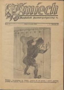 Śmiech: dodatek humorystyczny do Gazety Grudziądzkiej 1934.01.09 R. XV nr 1