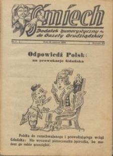 Śmiech: dodatek humorystyczny do Gazety Grudziądzkiej 1934.06.19 R. XV nr 7