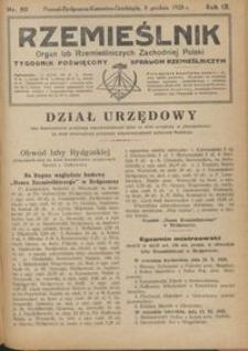 Rzemieślnik : organ izb rzemieślniczych Zachodniej Polski : tygodnik poświęcony sprawom rzemieślniczym 1928.12.08 R. IX nr 50