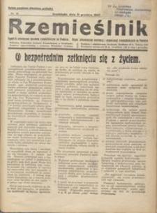 Rzemieślnik : tygodnik poświęcony sprawom rzemieślniczym na Pomorzu. Organ informacyjny instytucyj i organizacyj rzemieślniczych na Pomorzu 1937.12.11 R. XIV nr 36