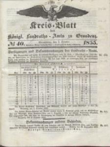 Kreis Blatt des Königlichen Landraths-Amts zu Graudenz 1855.10.05 nr 40