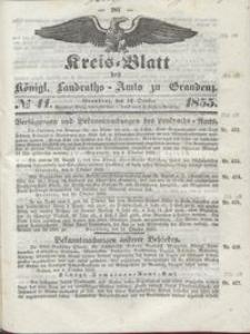 Kreis Blatt des Königlichen Landraths-Amts zu Graudenz 1855.10.12 nr 41