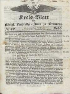 Kreis Blatt des Königlichen Landraths-Amts zu Graudenz 1855.10.19 nr 42