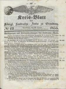Kreis Blatt des Königlichen Landraths-Amts zu Graudenz 1855.10.26 nr 43