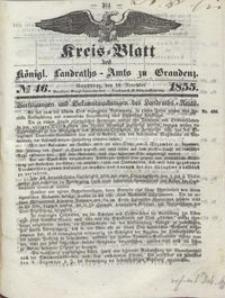Kreis Blatt des Königlichen Landraths-Amts zu Graudenz 1855.11.16 nr 46