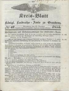 Kreis Blatt des Königlichen Landraths-Amts zu Graudenz 1855.11.23 nr 47