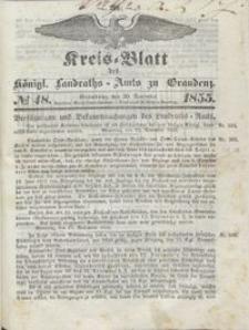 Kreis Blatt des Königlichen Landraths-Amts zu Graudenz 1855.11.30 nr 48
