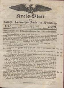 Kreis Blatt des Königlichen Landraths-Amts zu Graudenz 1863.04.10 nr 15