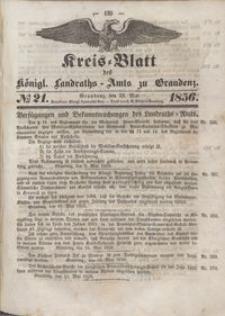 Kreis Blatt des Königlichen Landraths-Amts zu Graudenz 1856.05.23 nr 21