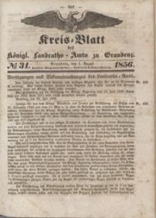 Kreis Blatt des Königlichen Landraths-Amts zu Graudenz 1856.08.01 nr 31