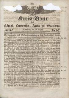 Kreis Blatt des Königlichen Landraths-Amts zu Graudenz 1856.08.29 nr 35