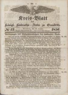 Kreis Blatt des Königlichen Landraths-Amts zu Graudenz 1856.10.10 nr 42