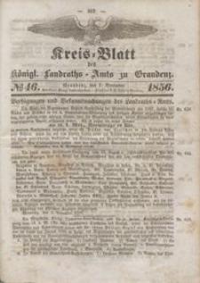 Kreis Blatt des Königlichen Landraths-Amts zu Graudenz 1856.11.07 nr 46