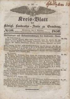 Kreis Blatt des Königlichen Landraths-Amts zu Graudenz 1856.12.05 nr 50