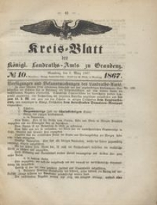 Kreis Blatt des Königlichen Landraths-Amts zu Graudenz 1867.03.08 nr 10