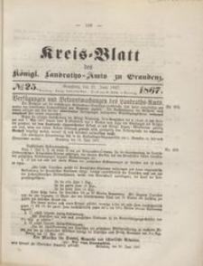 Kreis Blatt des Königlichen Landraths-Amts zu Graudenz 1867.06.21 nr 25